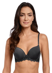 Wacoal - Lace Perfection Contour Bra Charcoal