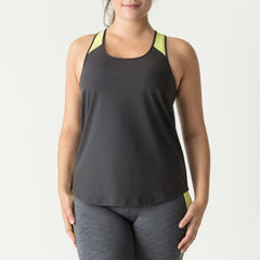 PrimaDonna Sport The Work Out Tank Top - Cosmic Grey Tank Top PrimaDonna Sport