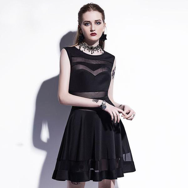 Hollow Sexy Party Gothic Dress - Let's Be Gothic, nightwear, clothing, punk, dark