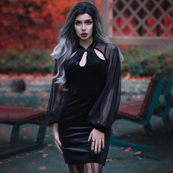 Fancy Goth Dress - Let's Be Gothic, nightwear, clothing, punk, dark