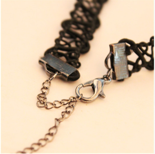 Black Chain Gothic Necklace - Let's Be Gothic, nightwear, clothing, punk, dark