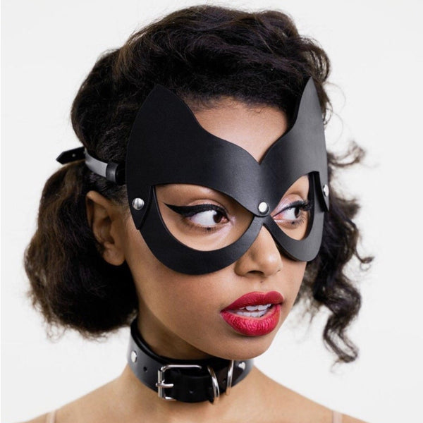 Party Leather Mask - Let's Be Gothic, nightwear, clothing, punk, dark