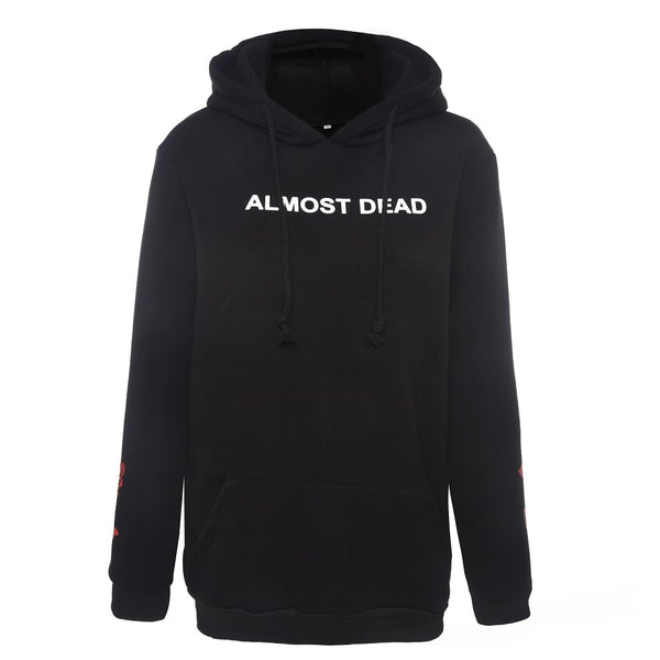 Almost Dead Hoodie - Let's Be Gothic, nightwear, clothing, punk, dark