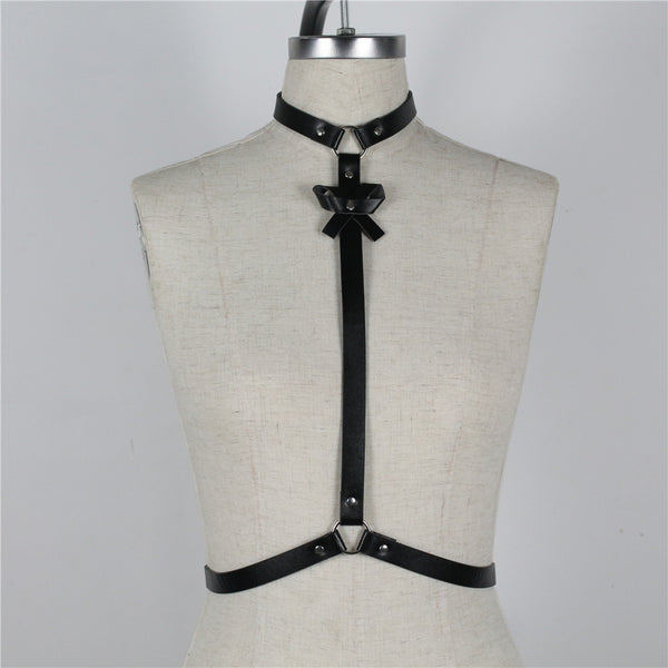 O-Ring Belt Tie Harness - Let's Be Gothic, nightwear, clothing, punk, dark