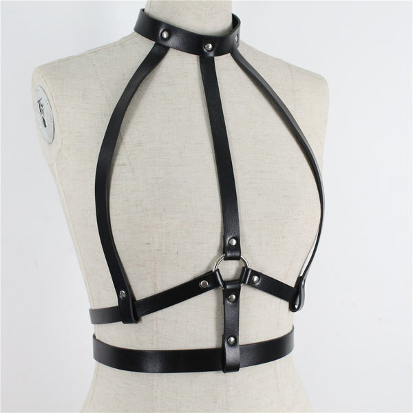 Bondage Jartiyer Harness - Let's Be Gothic, nightwear, clothing, punk, dark