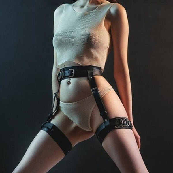 Multiply Belts Harsh Harness - Let's Be Gothic, nightwear, clothing, punk, dark
