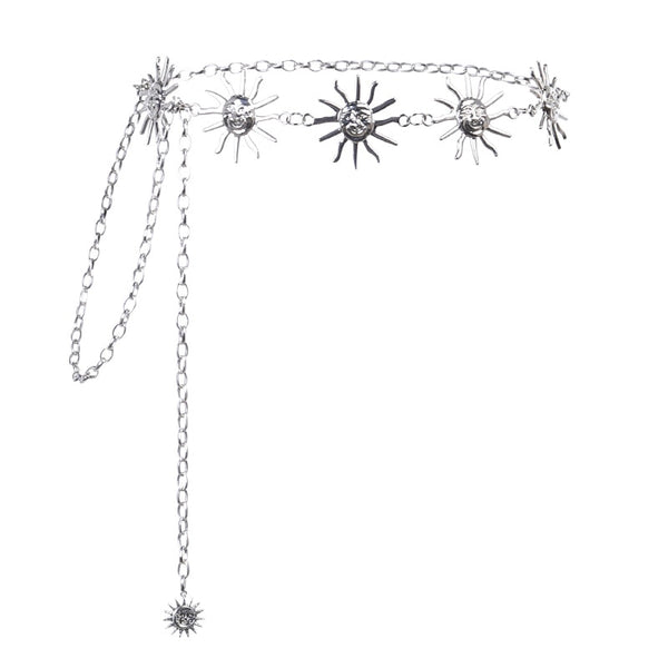 Metal Sun Chain Belt - Let's Be Gothic, nightwear, clothing, punk, dark