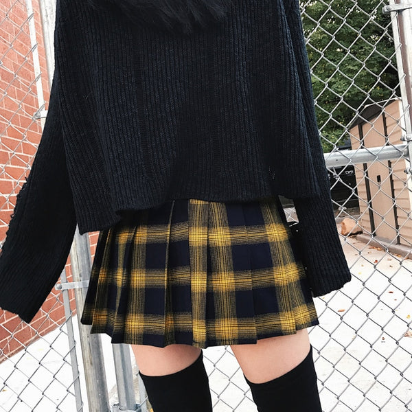 Punk Plaid Skirt - Let's Be Gothic, nightwear, clothing, punk, dark