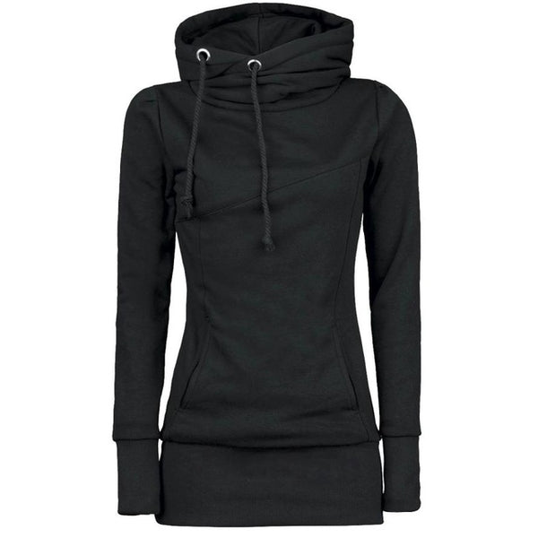 Solid Stylish Warm Hoodie - Let's Be Gothic, nightwear, clothing, punk, dark