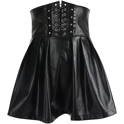 Adjustable Lace Up High Waist Skirt - Let's Be Gothic, nightwear, clothing, punk, dark