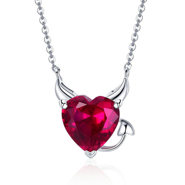 Devil Angel Heart Necklace - Let's Be Gothic, nightwear, clothing, punk, dark