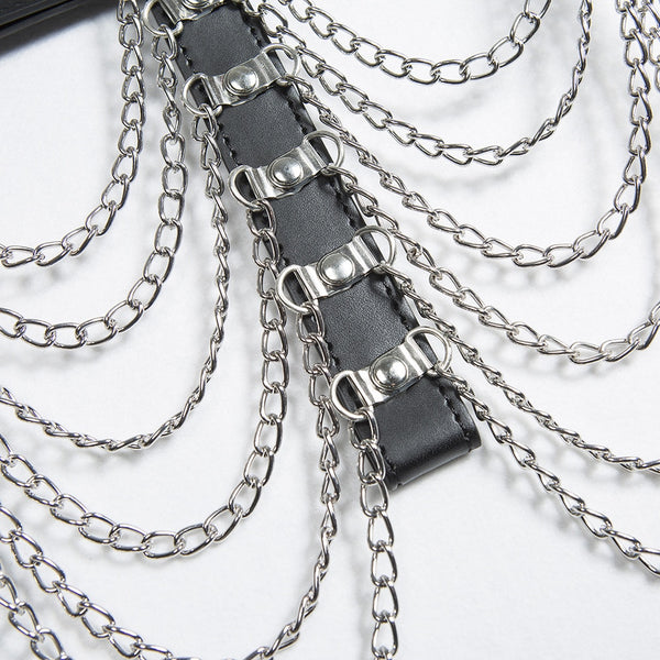 Hollow Out Chain Harness - Let's Be Gothic, nightwear, clothing, punk, dark