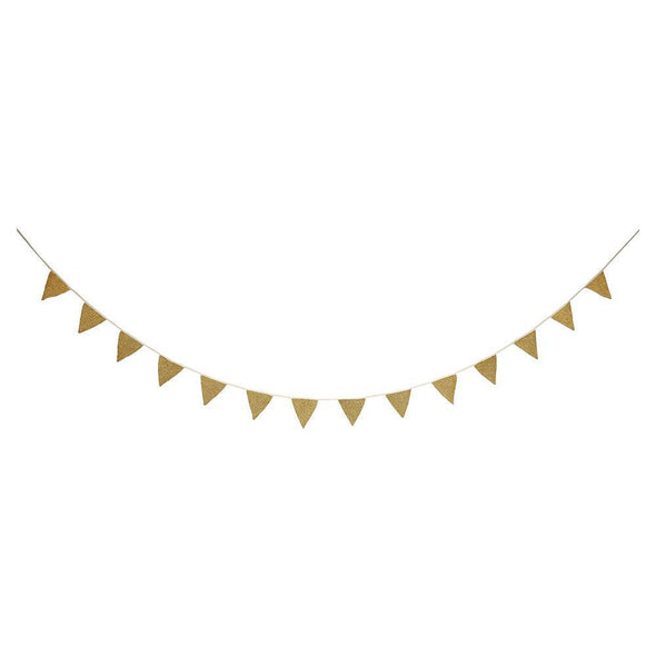 Gold Knitted Flag Garland