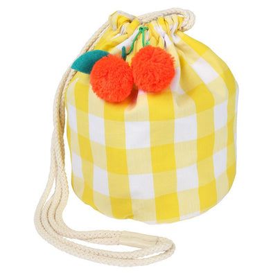 Cherry Gingham Small Duffle Bag