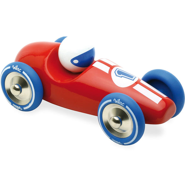 Red Wooden Race Car