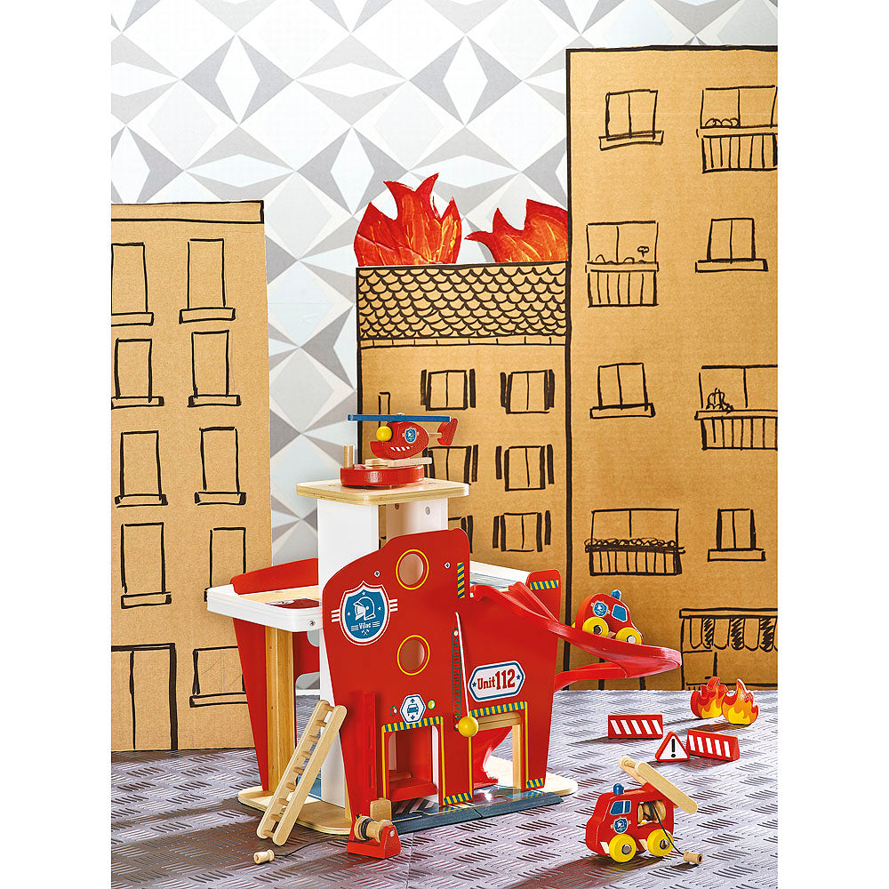 Vilacity Fire Station Set - Retro Kids