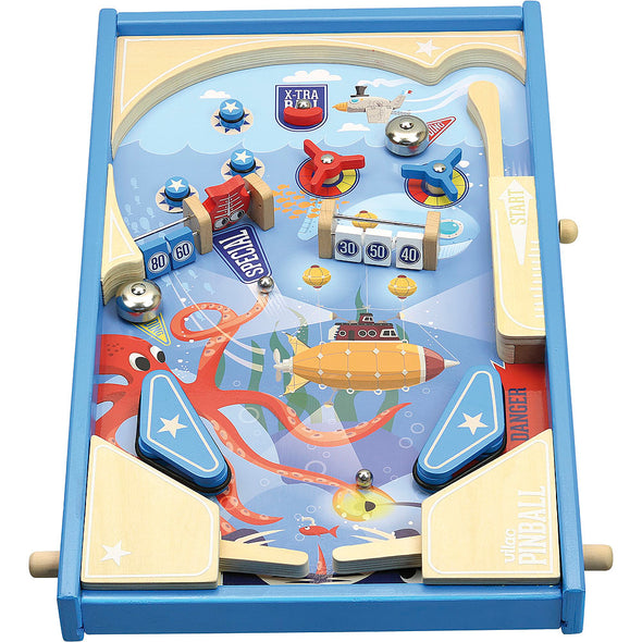 Under the Sea Wooden Pinball Game - Retro Kids