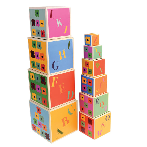 Colourful Creatures Set of 10 Stacking Blocks