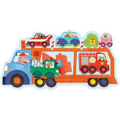 Transport Truck Puzzle Toy - Retro Kids