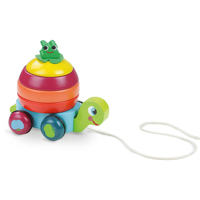 Turtle Stacker Pull Along Toy - Retro Kids