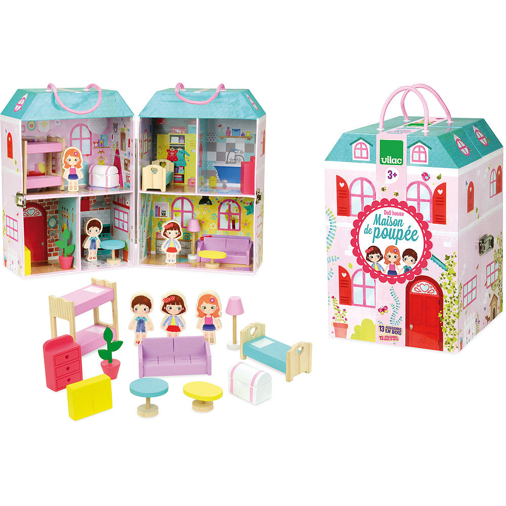 Doll House in Suitcase - Retro Kids