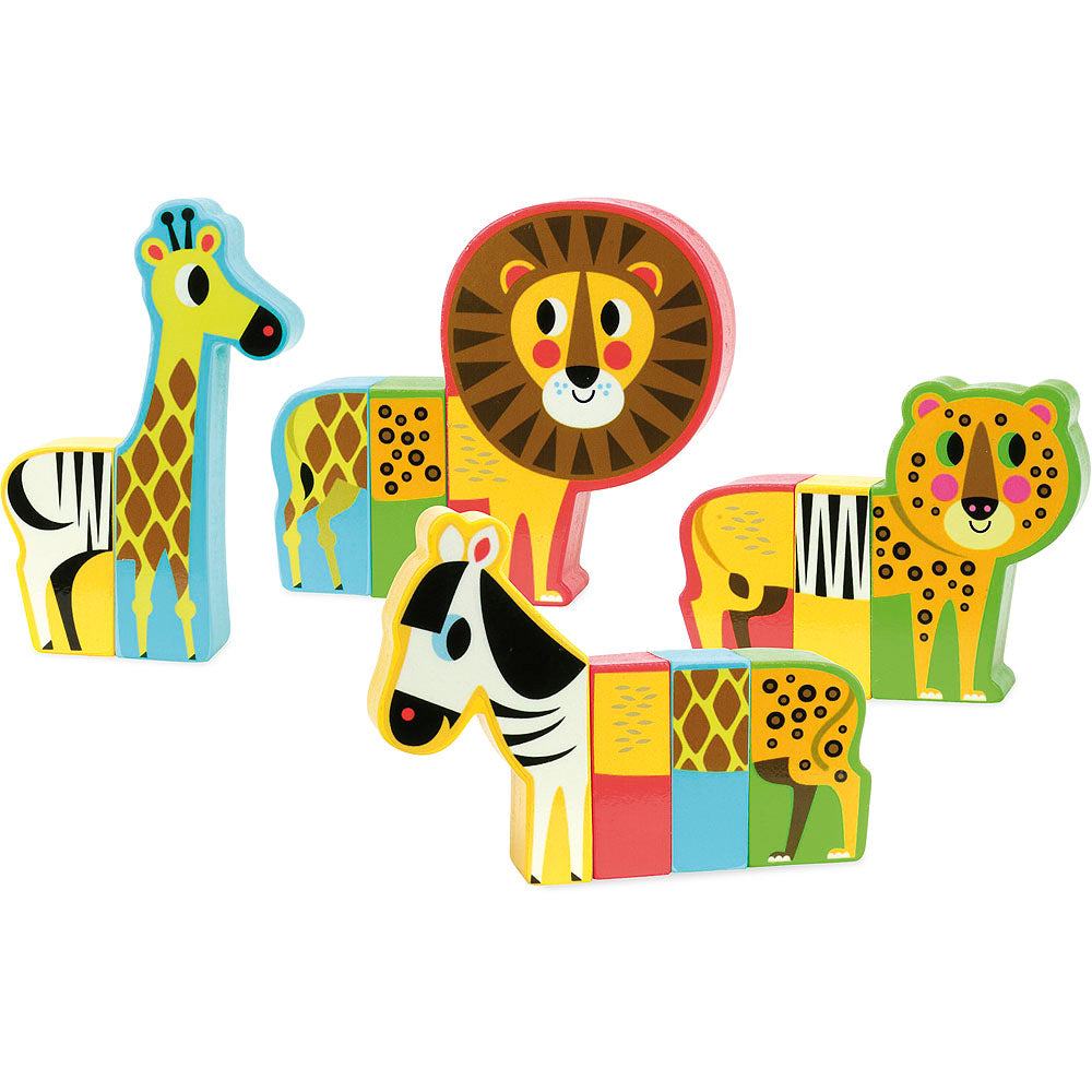 Magnetic Jungle Animal Set - Retro Kids