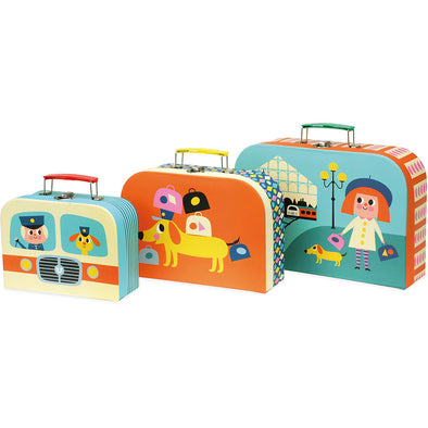 Ingela P Arrhenius Suitcase Set of 3 - Retro Kids