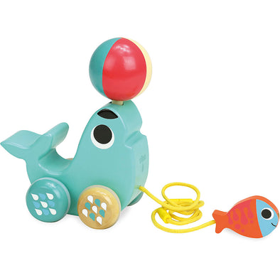 Sea Lion Pull Along Toy - Retro Kids