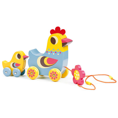 Hen and Chick Musical Pull Along Toy
