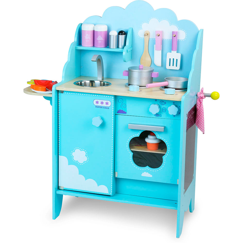 Sky Blue Kitchen Play Set - Retro Kids
