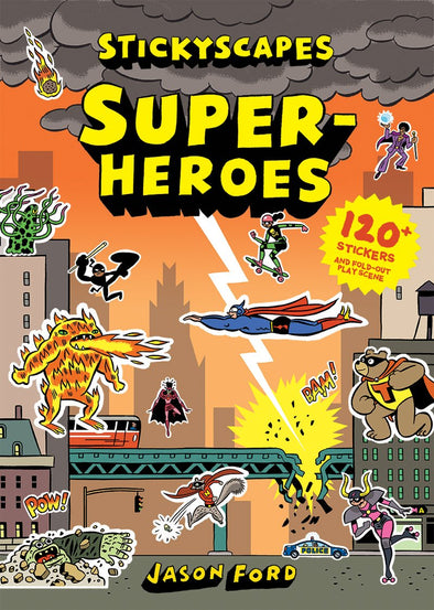Stickyscapes Superheroes Sticker Book