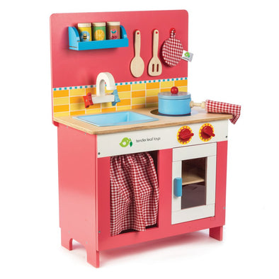 Retro Wooden Toy Cherry Pie Kitchen