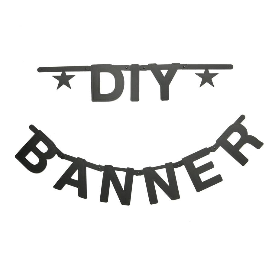 DIY Letter Banner Set in Black - Retro Kids