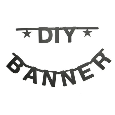 DIY Letter Banner Set in Black