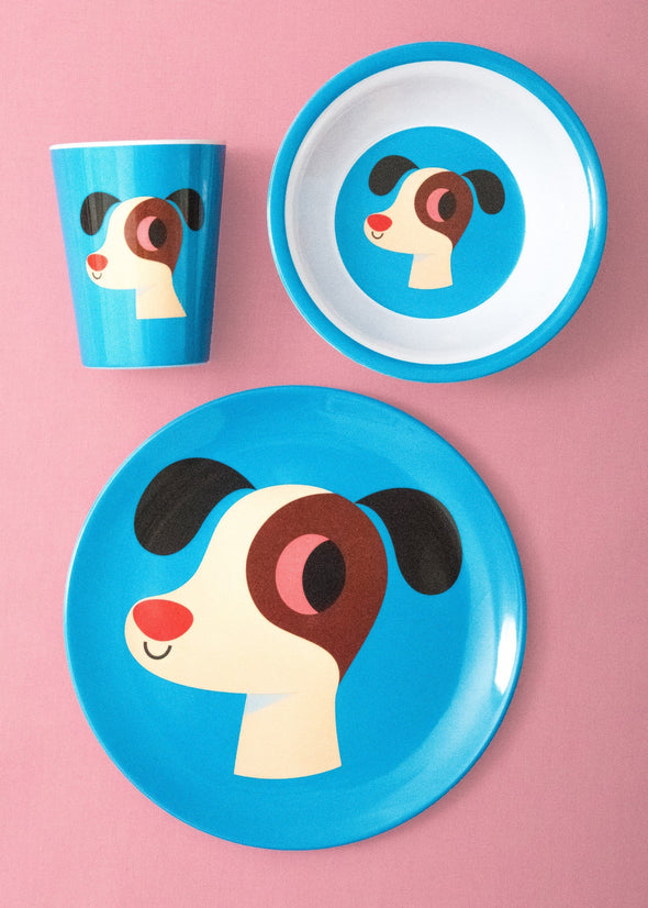 Dog Plate - Retro Kids