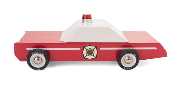 Fire Chief Wooden Car Toy