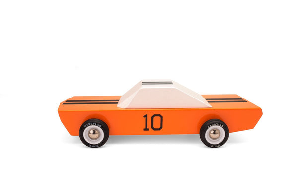 Orange Racer Wooden Car Toy