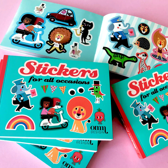 Sticker Book - Retro Kids