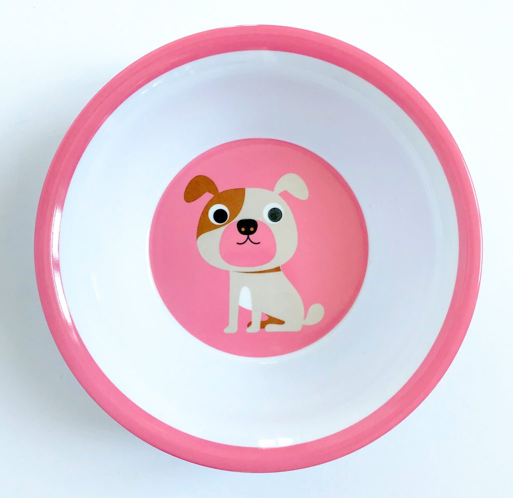 Pink Dog Bowl - Retro Kids