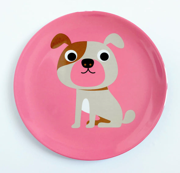 Pink Dog Plate - Retro Kids