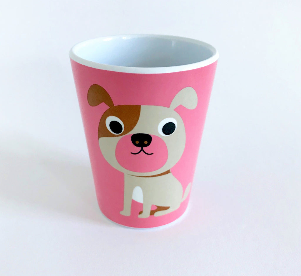 Pink Dog Tumbler - Retro Kids