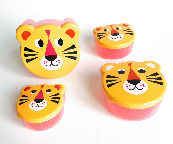 Tiger Snack Box set of 4 - Retro Kids