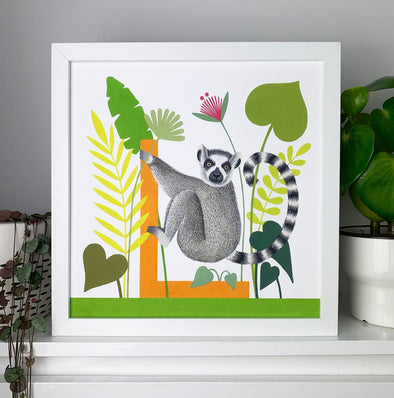L for Lemur Alphabet Print