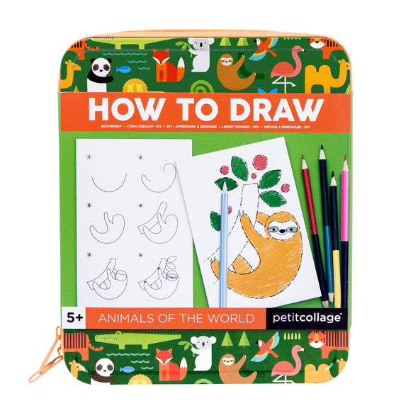 How to Draw Animals of the World Drawing Kit