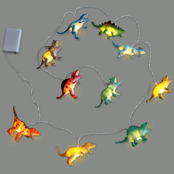 String Lights with Bright Dinosaurs
