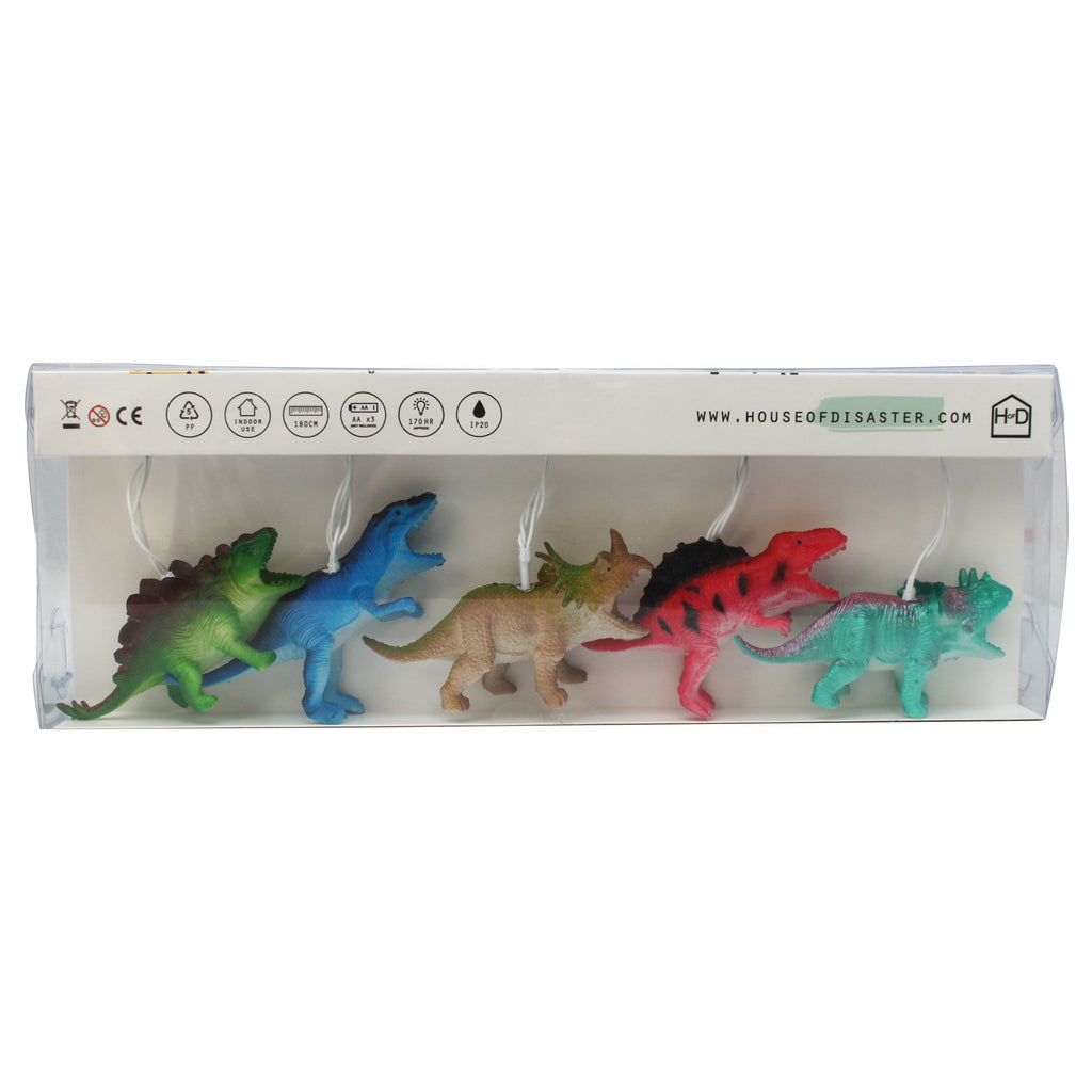 String Lights with Bright Dinosaurs - Retro Kids