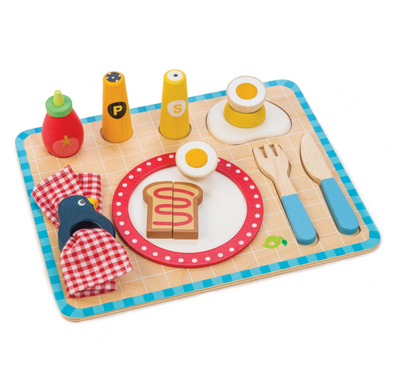 Breakfast Tray Wooden Toy Set