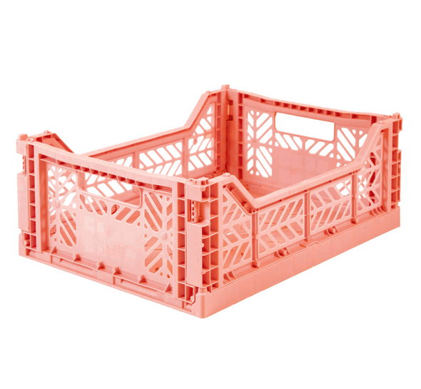 Folding Crate in Salmon Pink