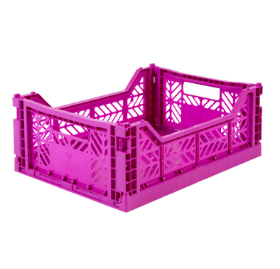 Folding Crate in Purple