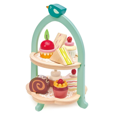 Birdie Afternoon Tea Stand Wooden Toy
